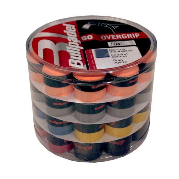 BULLPADEL OVERGRIPS 1604 PACK 50 MULTICOLORE