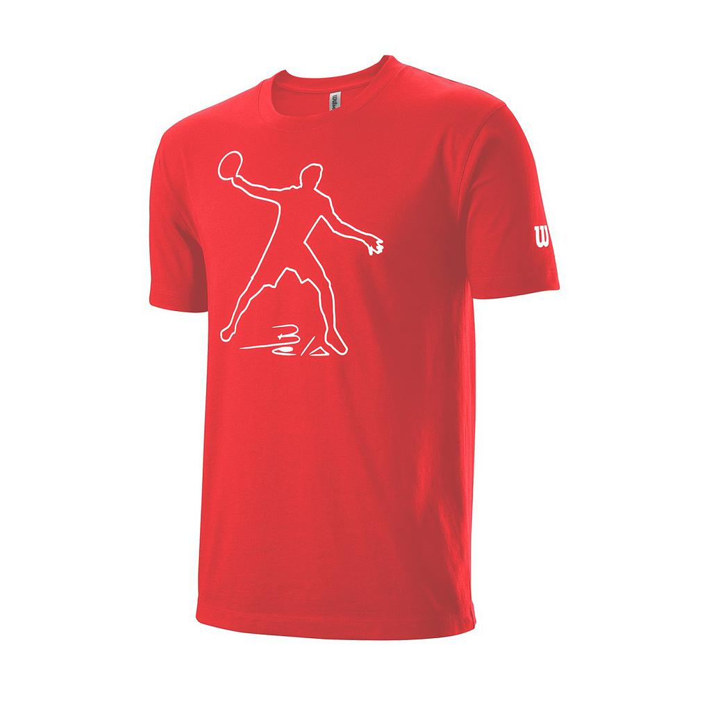 WILSON T-SHIRT Men's Bela Tech T-Shirt Red